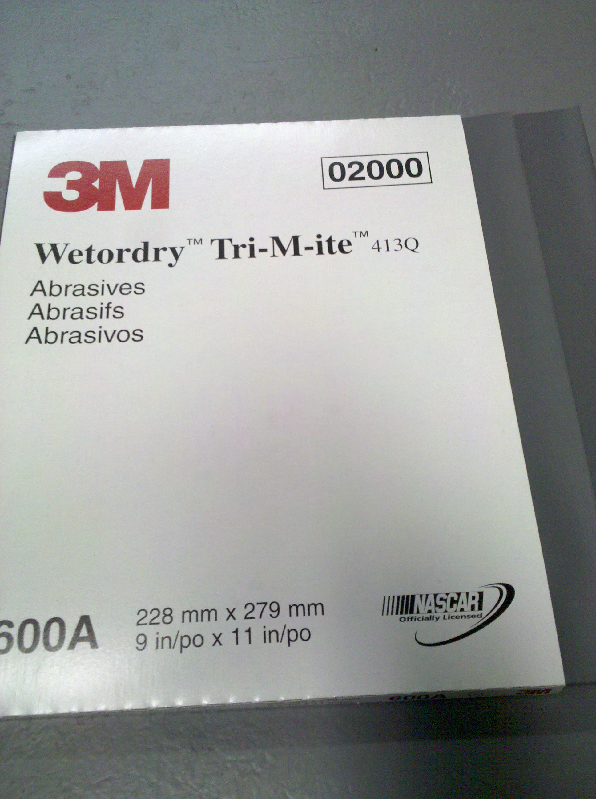 3M WET OR DRY TRI-M-ITE 600 GRIT SAND PAPER