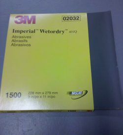 3M IMPERIAL WET OR DRY 1500 GRIT SAND PAPER