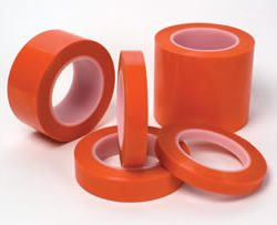 "1.5"" X 72 YDS 2MIL ORANGE POLY TAPE - 430F"