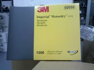 3M IMPERIAL WETORDRY 1500 GRIT SAND PAPER